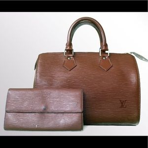 Louis Vuitton Epi Speedy 25 Set